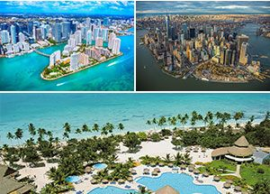 New York, Miami e Santo Domingo