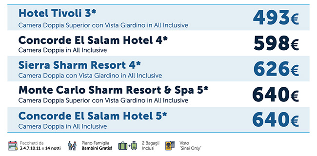 Sharm El Sheikh All Inclusive, Offerta