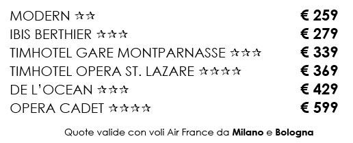 Volo e Hotel Parigi - Ponte 1 Novembre - Punto nel Mondo
